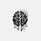 Realistic design element: brain drop Royalty Free Stock Photos