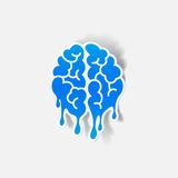 Realistic design element: brain drop Royalty Free Stock Photo