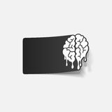 Realistic design element: brain drop Stock Photos