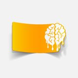 Realistic design element: brain drop Royalty Free Stock Photography