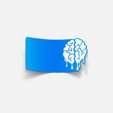 Realistic design element: brain drop Royalty Free Stock Image
