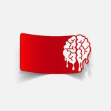 Realistic design element: brain drop Stock Photo