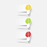 Realistic design element: brain lamp Stock Photography