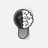 Realistic design element: brain lamp Stock Image