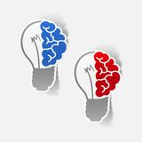 Realistic design element: brain lamp Royalty Free Stock Photos