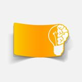 Realistic design element: brain lamp Stock Photography