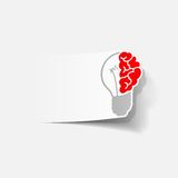 Realistic design element: brain lamp Royalty Free Stock Photo