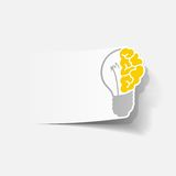 Realistic design element: brain lamp Stock Photo