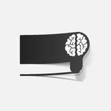 Realistic design element: brain lamp Royalty Free Stock Image