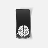 Realistic design element: brain-usb, plug Stock Photo