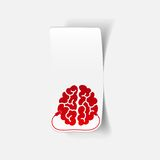 Realistic design element: brain-usb, plug Royalty Free Stock Images