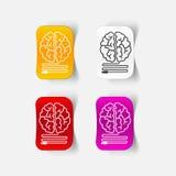 Realistic design element: brain-usb, plug Royalty Free Stock Photography