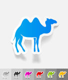 Realistic design element. camel Royalty Free Stock Photography