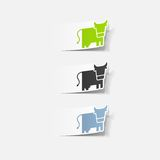 Realistic design element: cow Royalty Free Stock Photo