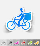 Realistic design element. delivery of goods by Royalty Free Stock Photography