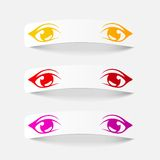 Realistic design element: eyes Royalty Free Stock Image