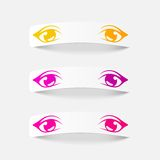 Realistic design element: eyes Royalty Free Stock Photo