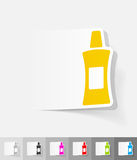 Realistic design element. flacon. Flacon paper sticker with shadow. Vector illustration Stock Image
