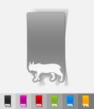 Realistic design element. lynx Stock Photography