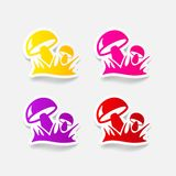 Realistic design element. mushrooms Royalty Free Stock Photos