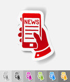 Realistic design element. news in the smartphone Royalty Free Stock Photos