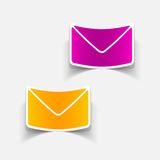 Realistic design element: newsletter. Vector Illustration Royalty Free Stock Image
