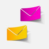 Realistic design element: newsletter. Vector Illustration Royalty Free Stock Photos