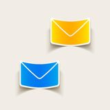 Realistic design element: newsletter. Vector Illustration Royalty Free Stock Images