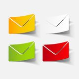 Realistic design element: newsletter. Vector Illustration Royalty Free Stock Photography