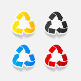 Realistic design element: recycle sign. It is a realistic design element: recycle sign Royalty Free Stock Photography