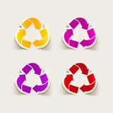 Realistic design element: recycle sign. It is a realistic design element: recycle sign Royalty Free Stock Photos