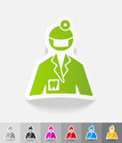 Realistic design element. stomatologist Stock Photos
