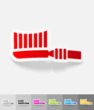 Realistic design element. toothbrush Stock Images