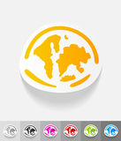 Realistic design element. the World Islands Royalty Free Stock Photos