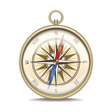Realistic Detailed Compass with Windrose. Vector Royalty Free Stock Photos