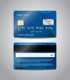 Realistic detailed credit card Royalty Free Stock Images