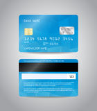 Realistic detailed credit card Stock Image