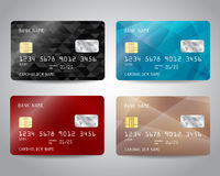 Realistic detailed credit cards set Royalty Free Stock Photos