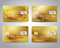 Realistic detailed credit cards set Royalty Free Stock Photography