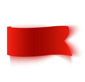 Realistic detailed curved red paper banner. Royalty Free Stock Photography