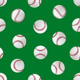 Realistic Detailed 3d Baseball Leather Ball Seamless Pattern Background. Vector. Realistic Detailed 3d Baseball Leather Ball Seamless Pattern Background Closeup Royalty Free Stock Images