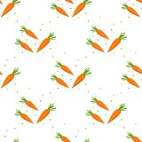 Realistic Detailed 3d Fresh Raw Carrots Seamless Pattern Background on a White Healthy Food Vitamin Vegetable Concept. Vector illu. Stration of Orange Carrot Stock Photos