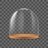 Realistic Detailed 3d Glass Dome Container Protection for Food. Vector. Illustration royalty free illustration