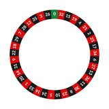 Realistic Detailed 3d Round Casino Roulette with Numbers. Vector royalty free illustration