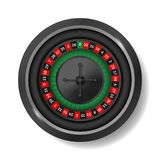 Realistic Detailed 3d Round Casino Roulette on a White. Vector royalty free illustration