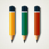 Realistic detailed sharpened pencils isolated on white background. Vector illustration EPS 10 Royalty Free Stock Photo