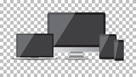 Realistic device flat Icons Stock Images