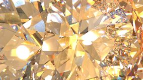 Crystal refractions background. Realistic diamond with caustic close up texture, 3D illustration Royalty Free Stock Image