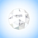 Realistic diamond jewel shaped. Vector Gem illustration. Stock Photo