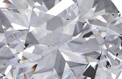 Realistic diamond texture close up, 3D render stock photo